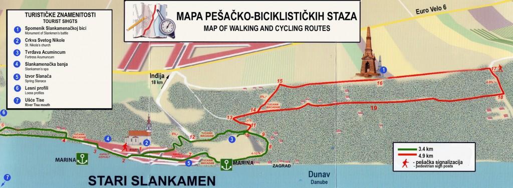 Mapa staza Slankamen 2000